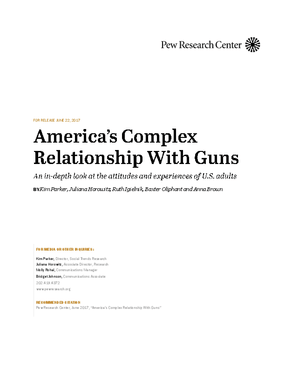 America's Complex Relationship With Guns: An In-depth Look at the Atttitudes and Experiences of U.S. Adults