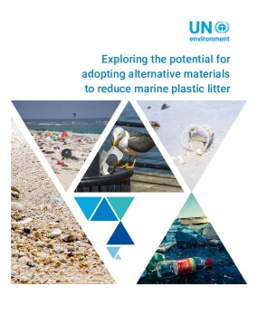 Exploring the potential for adopting alternative materials to reduce marine plastic litter