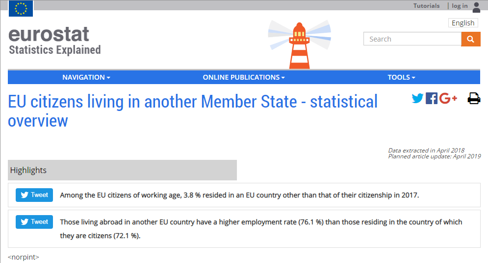 EU Citizens living in Another Member State - Statistical Overview