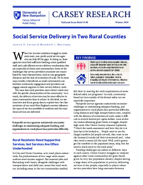Social Service Delivery in Two Rural Counties