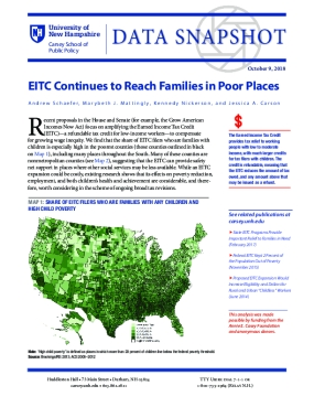 Data Snapshot: EITC Continues to Reach Families in Poor Places