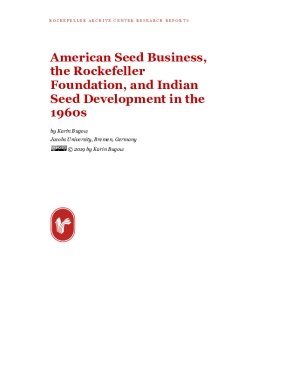 American Seed Business, the Rockefeller Foundation, and Indian Seed Development in the 1960s