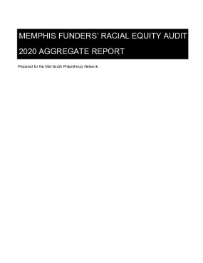 Memphis Funders' Racial Equity Audit 2020 Aggregate Report